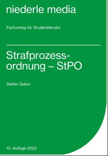 StPO - Strafprozessordnung